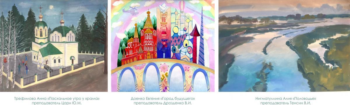 Все события Ижевска открыта выставка дипломных работ учащихся ДШИ №11 им В М Васнецова посвященная городу прошлому настоящему будущему Ижевска Работы отличаются